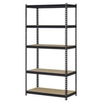 5-Shelf Black Steel Adjustable Rack Garage Storage Shelf Boltless Particle Board Warehouse Rivet Shelving